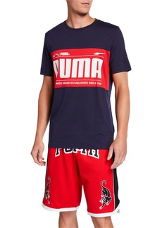 Puma Men's Logo Block Graphic T-Shirt