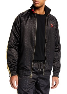 Puma Men's Luxe Pack Tonal-Print Track Jacket