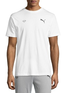 Men's Puma X Diamond Logo Tee  White