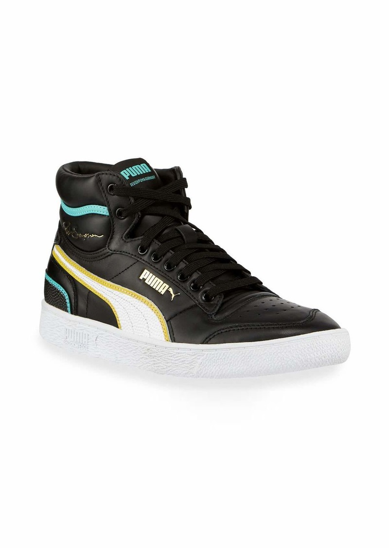 Puma Men's Ralph Sampson Mid Hoops Leather Sneakers