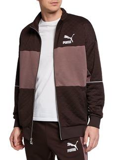 Puma Men's Retro Quilted Panel Track Jacket