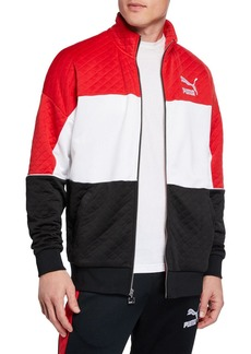 Puma Men's Retro Tricolor Quilted Jacket