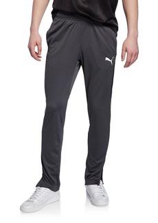 Puma Men's Speed Side Panel Zipper Pants  Asphalt