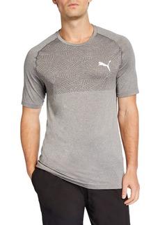 Puma Men's Tec Sports evoKNIT T-Shirt  Gray