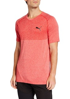 Puma Men's Tec Sports evoKNIT T-Shirt  Red