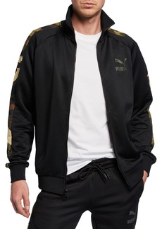 Puma Men's Wild Pack T7 Camo-Print Track Jacket