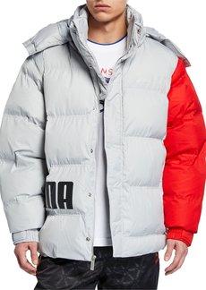 Puma Men's x Ader Colorblock Puffer Jacket