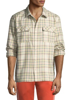 Puma Men's x Big Sean Back-Graphic Check Shirt