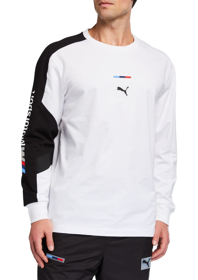 Puma Men's x BMW MMS Street Long-Sleeve Graphic Top