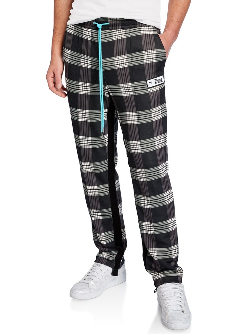 Puma Men's x Rhude Plaid Track Pants