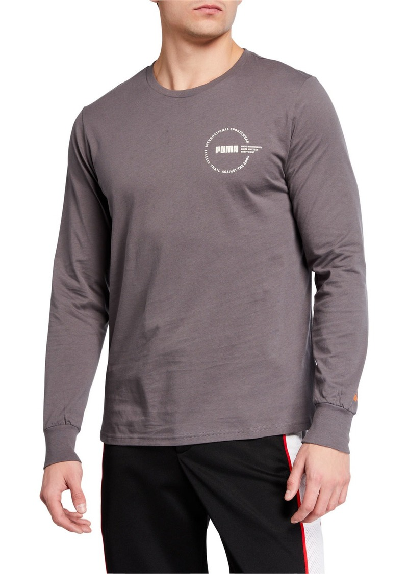 Puma Men's XTG Trail Long-Sleeve Logo T-Shirt
