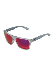 Puma Mirrored Square Plastic Active Sunglasses