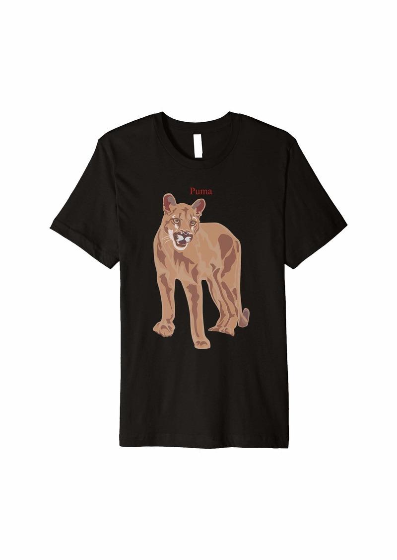 Puma Mountain Lion Cougar T-shirt Big Cat Lover