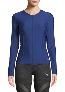 Puma Nocturnal Velvet Long-Sleeve Pullover Training Top