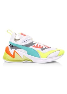 Puma Origin Neon Mix Media Sneakers