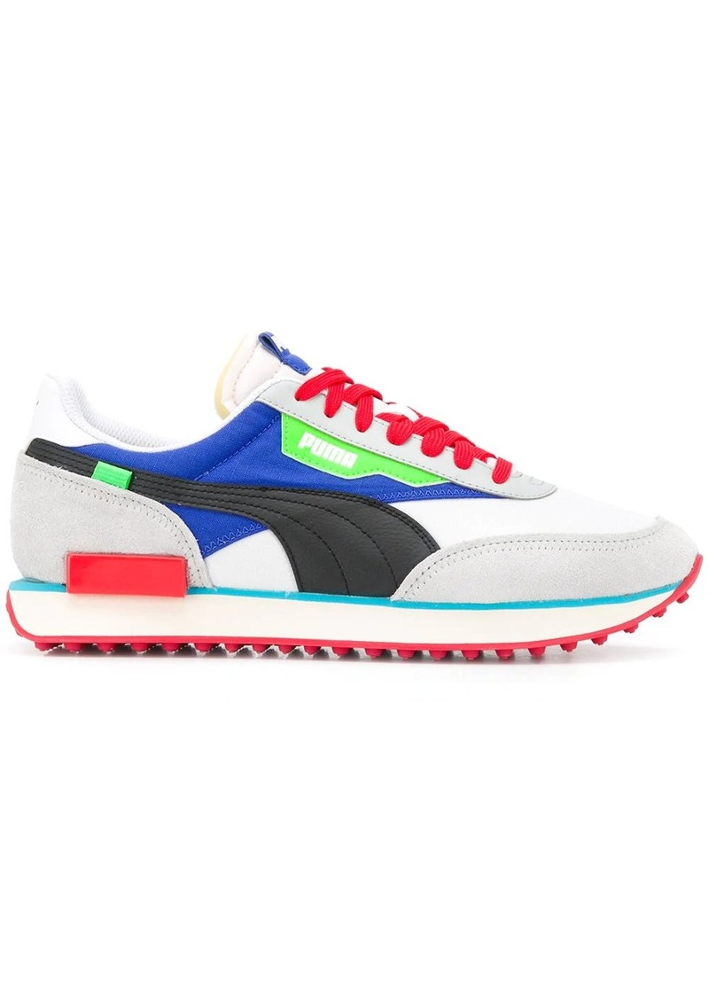 Puma panelled sneakers
