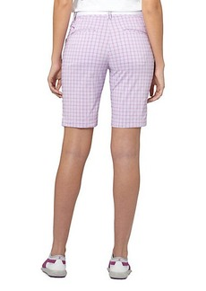 Plaid Golf Bermuda Shorts