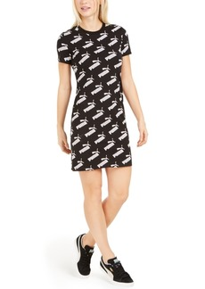 Puma Amplified Logo-Print Fitted T-Shirt Dress
