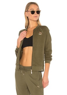 Puma Archive Logo T7 Track Jacket in Olive. - size L (also in XS,S,M)