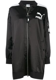 Puma Archive T7 long bomber jacket - Black