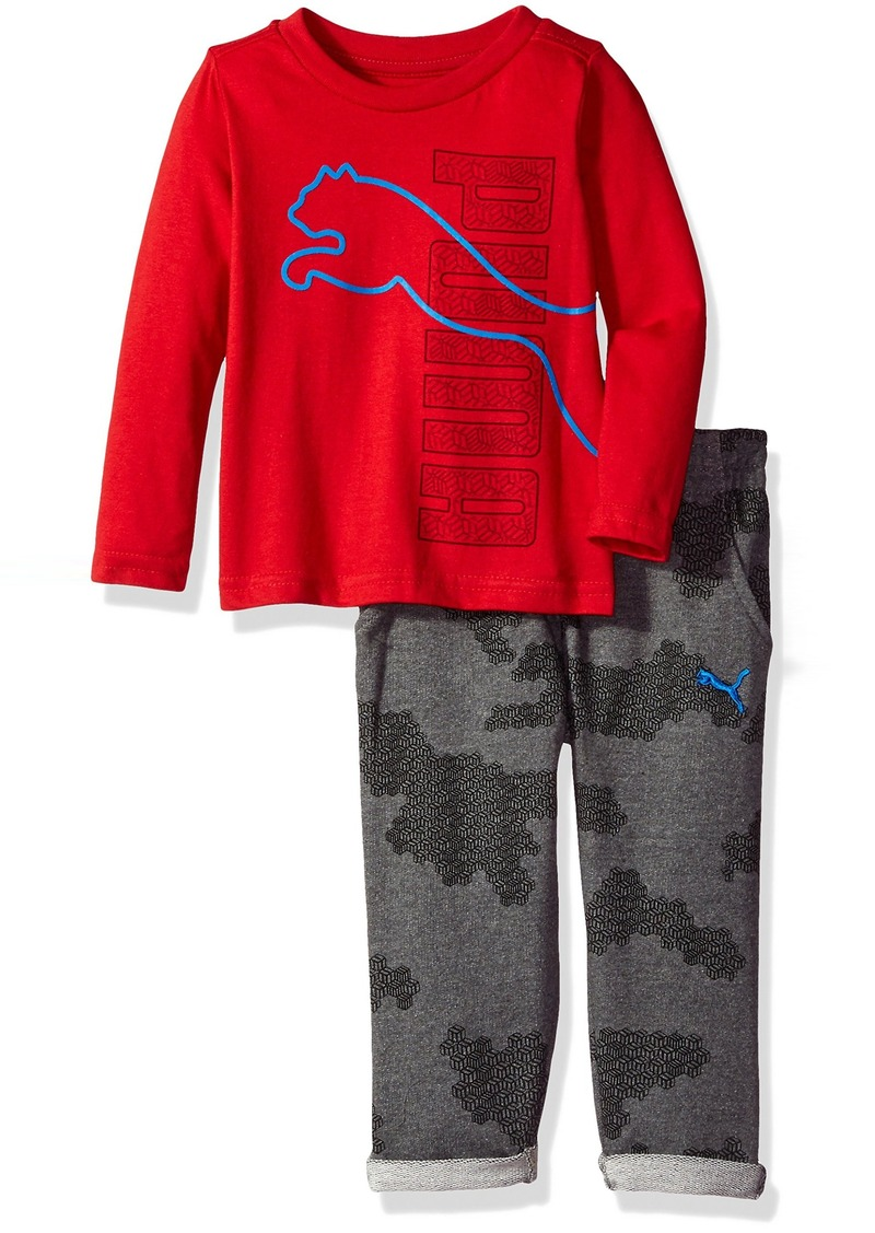 f33e8d83ab0 ... best price baby boys three piece pant hat and t shirt set. puma 8f132  109a0