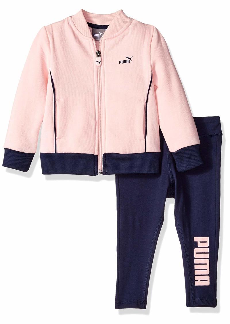 PUMA Baby Girls Track Jacket and Legging Set  12M