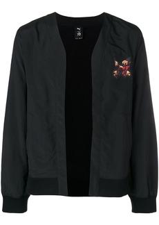 Puma back print bomber jacket - Black