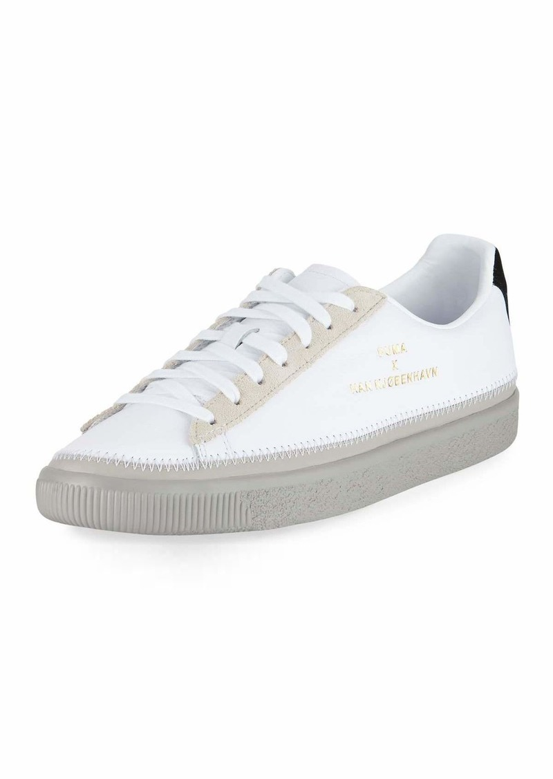 sale retailer a3f5f 4bae9 Basket Hand-Stitched Leather Creeper Sneaker