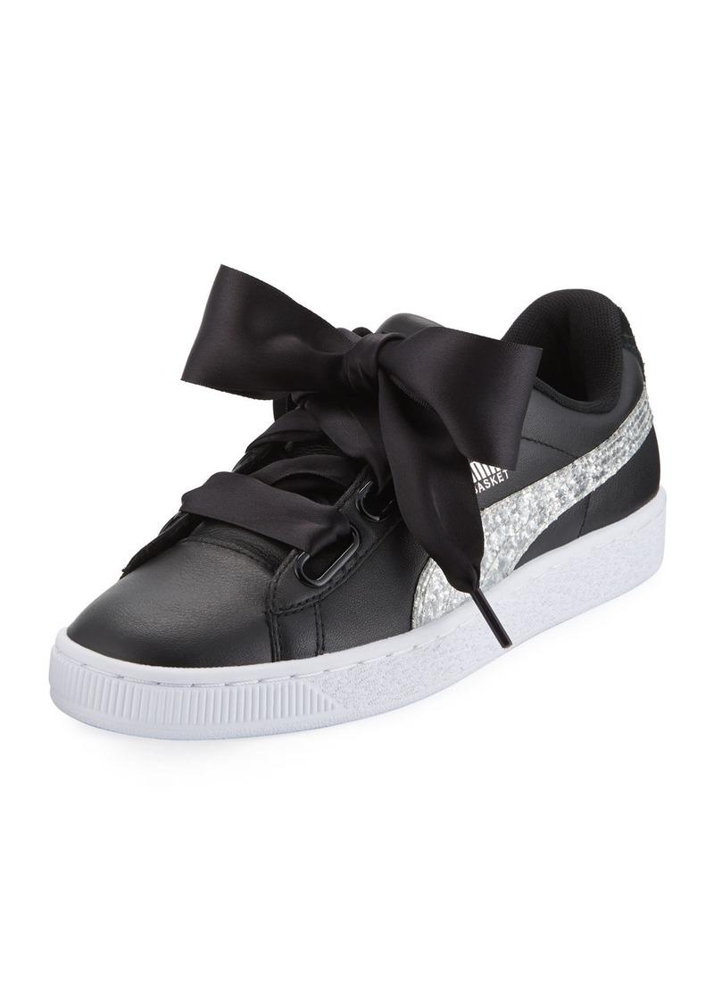 ad48b99ece6e SALE! Puma Puma Basket Heart Glitter Sneaker