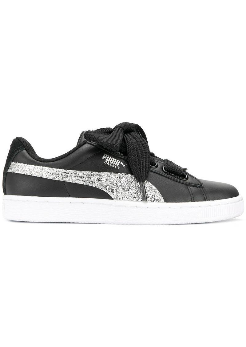 e23fca3fb696 Puma Puma Basket Heart glitter sneakers - Black | Shoes