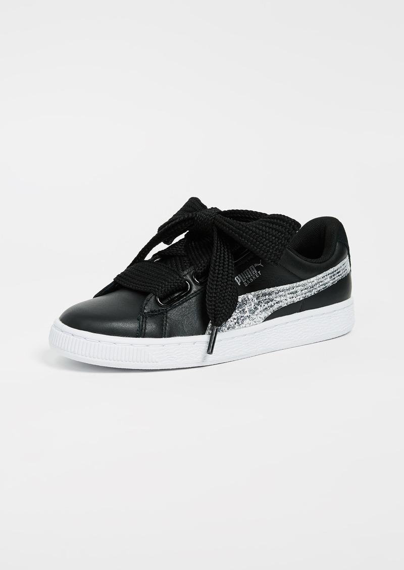 c04c28729394 SALE! Puma PUMA Basket Heart Glitter Sneakers
