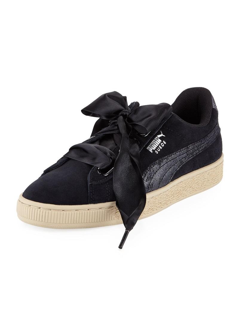 buy popular 6936b 419be Basket Heart Safari Suede Sneaker