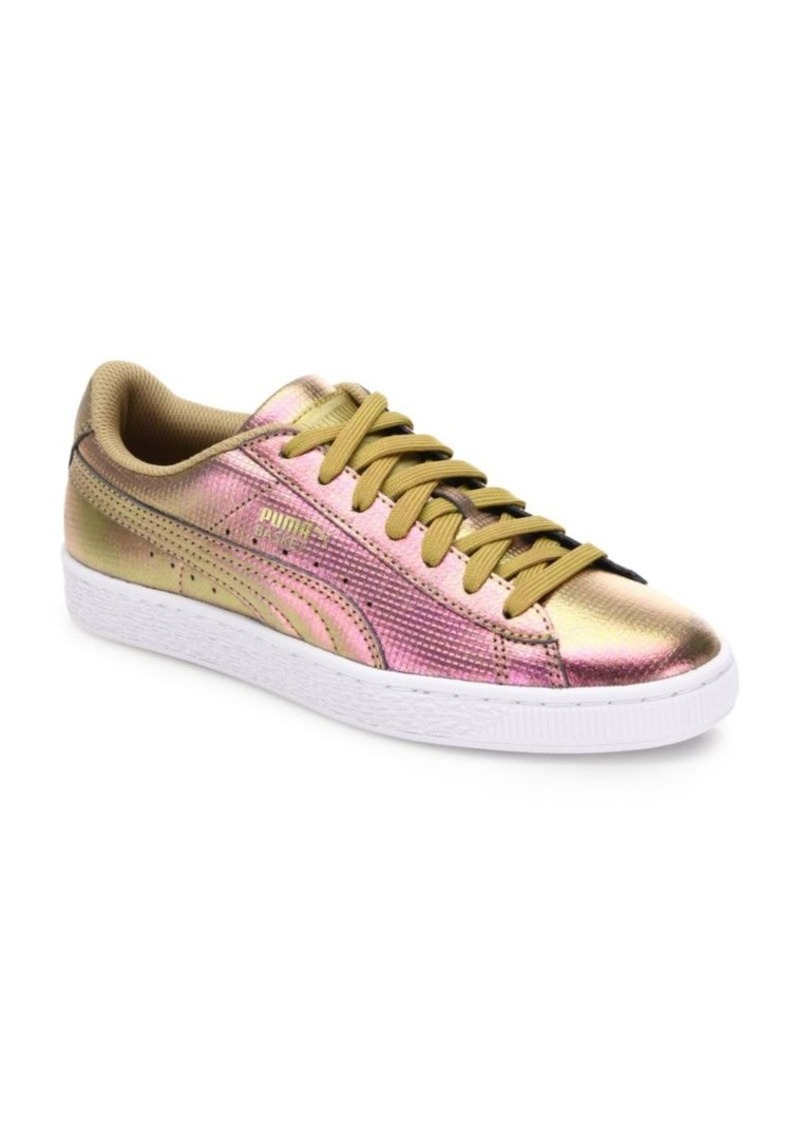 d95046a346dc Puma PUMA Basket Holographic Leather Sneakers