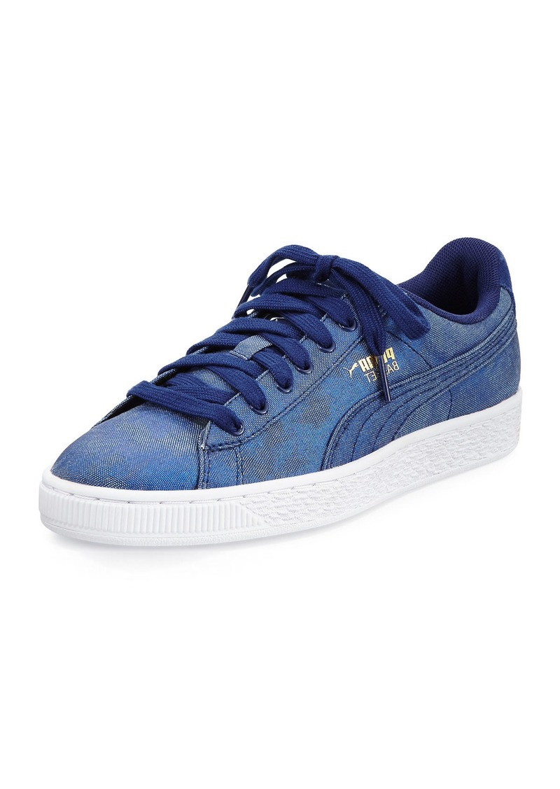 low priced a9938 4ab71 Basket Iridescent Denim Sneaker