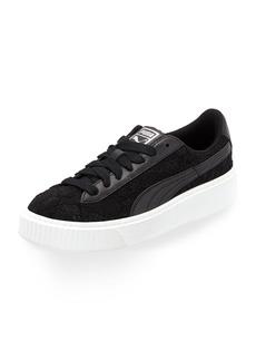 Puma Basket Lace Platform Sneakers