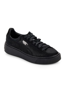 Puma Basket Leather Platform Sneakers