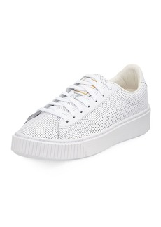 Puma Basket Perforated Platform Sneakers