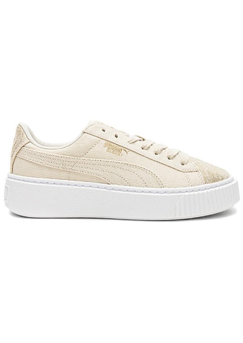 info for 2a64b b7a3c Basket Platform Canvas Sneaker