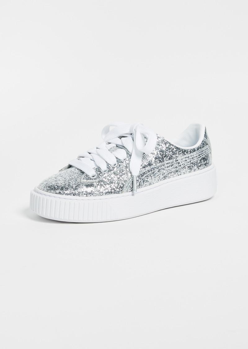 best sneakers a6039 d5763 Puma PUMA Basket Platform Glitter Sneakers | Shoes