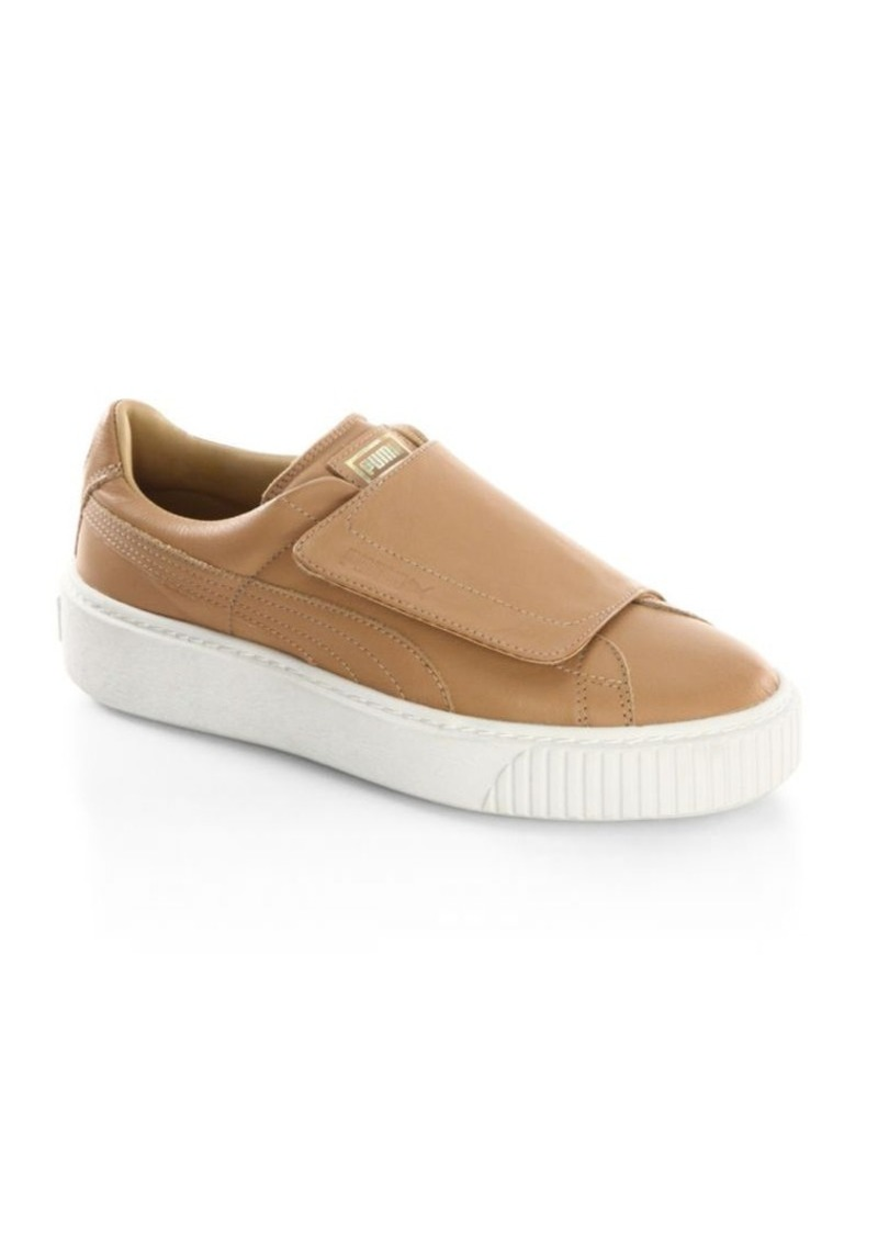 9377a40ba4a Puma PUMA Basket Platform Leather Slip-On Sneakers
