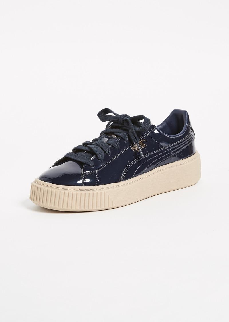 sports shoes e6622 74d6b Basket Platform Patent Sneakers