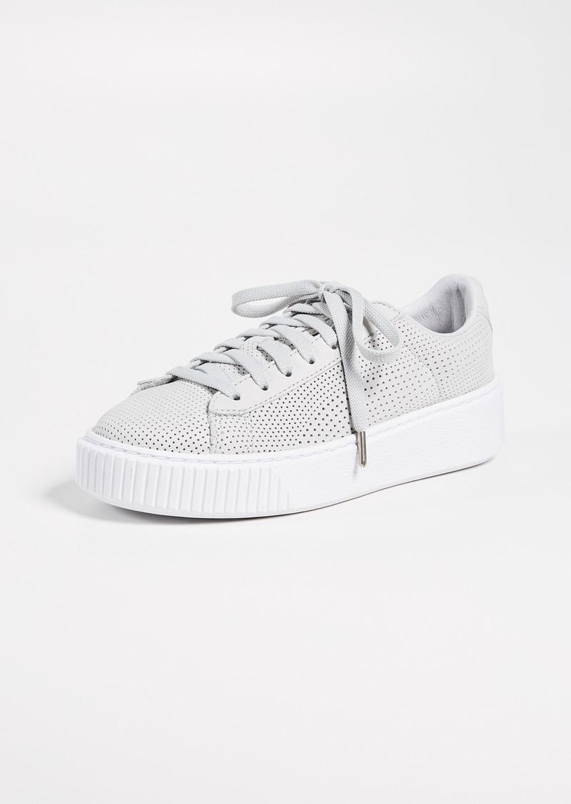 Basket Platform Perforated Sneakers