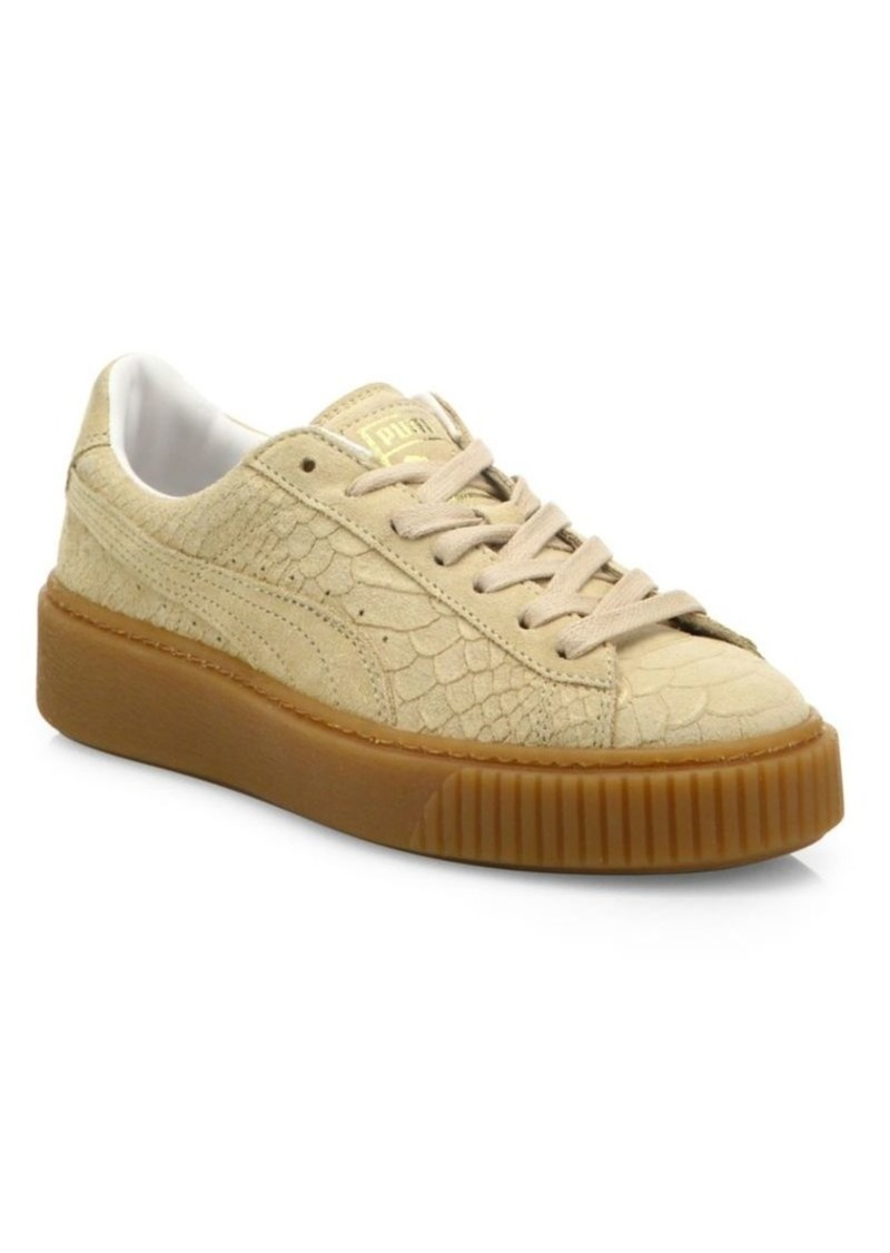 purchase cheap 43083 1fc6b Basket Suede Platform Sneakers