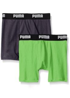 PUMA Big Boys 2 Pack Cotton Boxer Brief Bright Green