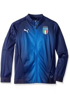 PUMA Boys' Big FIGC Italia Stadium Jacket Kids  M