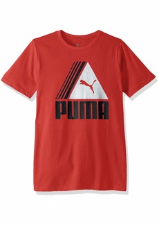 PUMA Big Boys' T-Shirt Ribbon red S