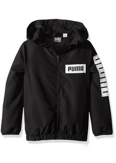PUMA Big Boys' Windbreaker Black Medium (10/12)