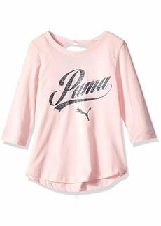 PUMA Big Girls' Back Keyhole T-Shirt  S