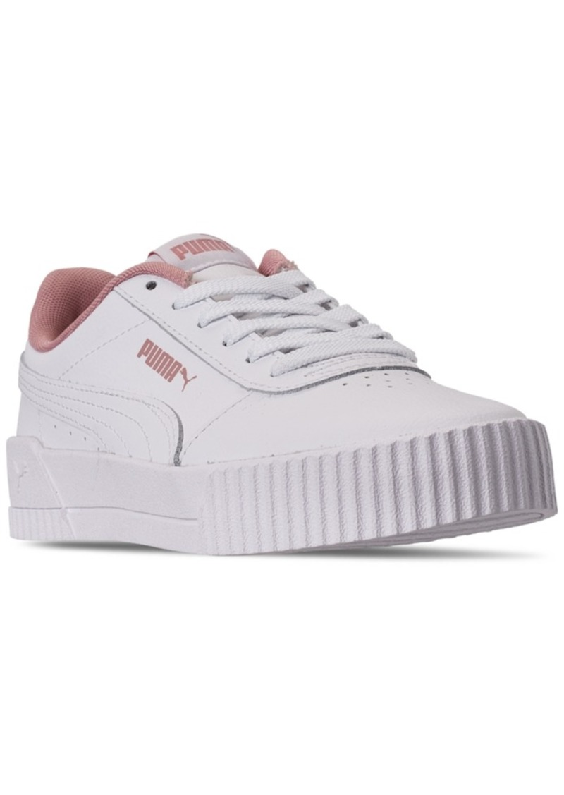 Puma Big Girls Carina Leather Casual Sneakers from Finish Line