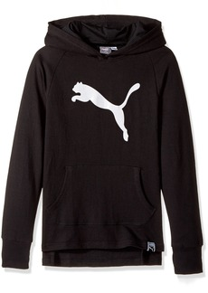 PUMA Big Girls' Cat Hoodie Black Extra Large
